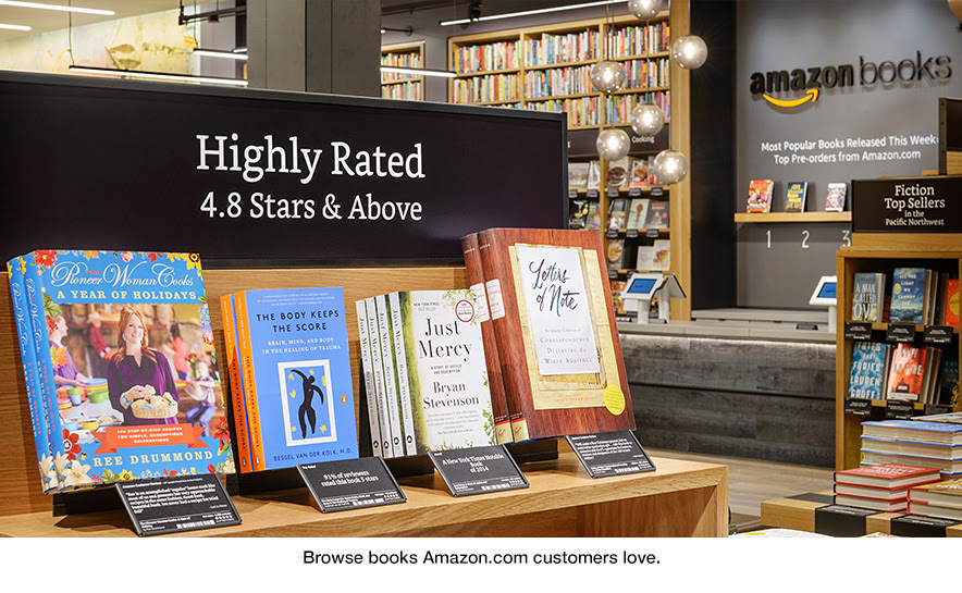 Browse books Amazon.com customers love at Amazon Books in University Village, Seattle