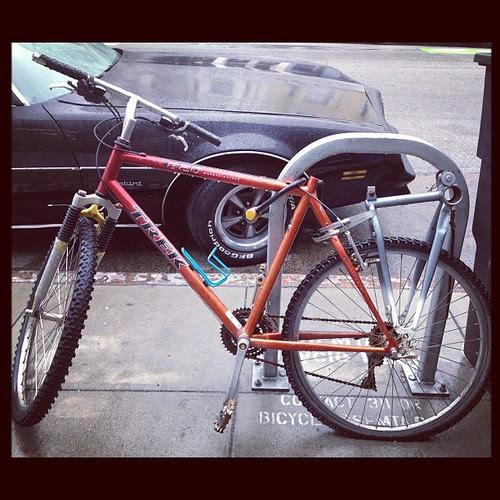 Morning bike hack rack