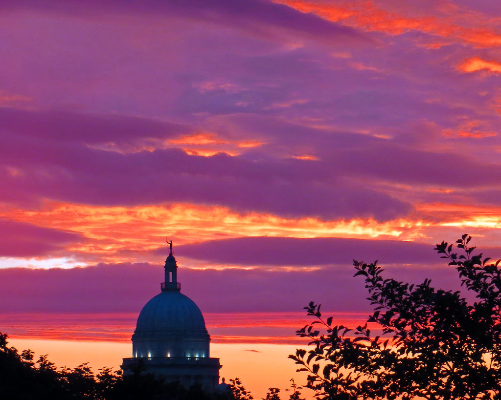 Sunset: Rhode Island State House