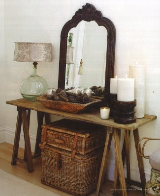 lainemarie:  yellowdoor:interior divine: Console tables