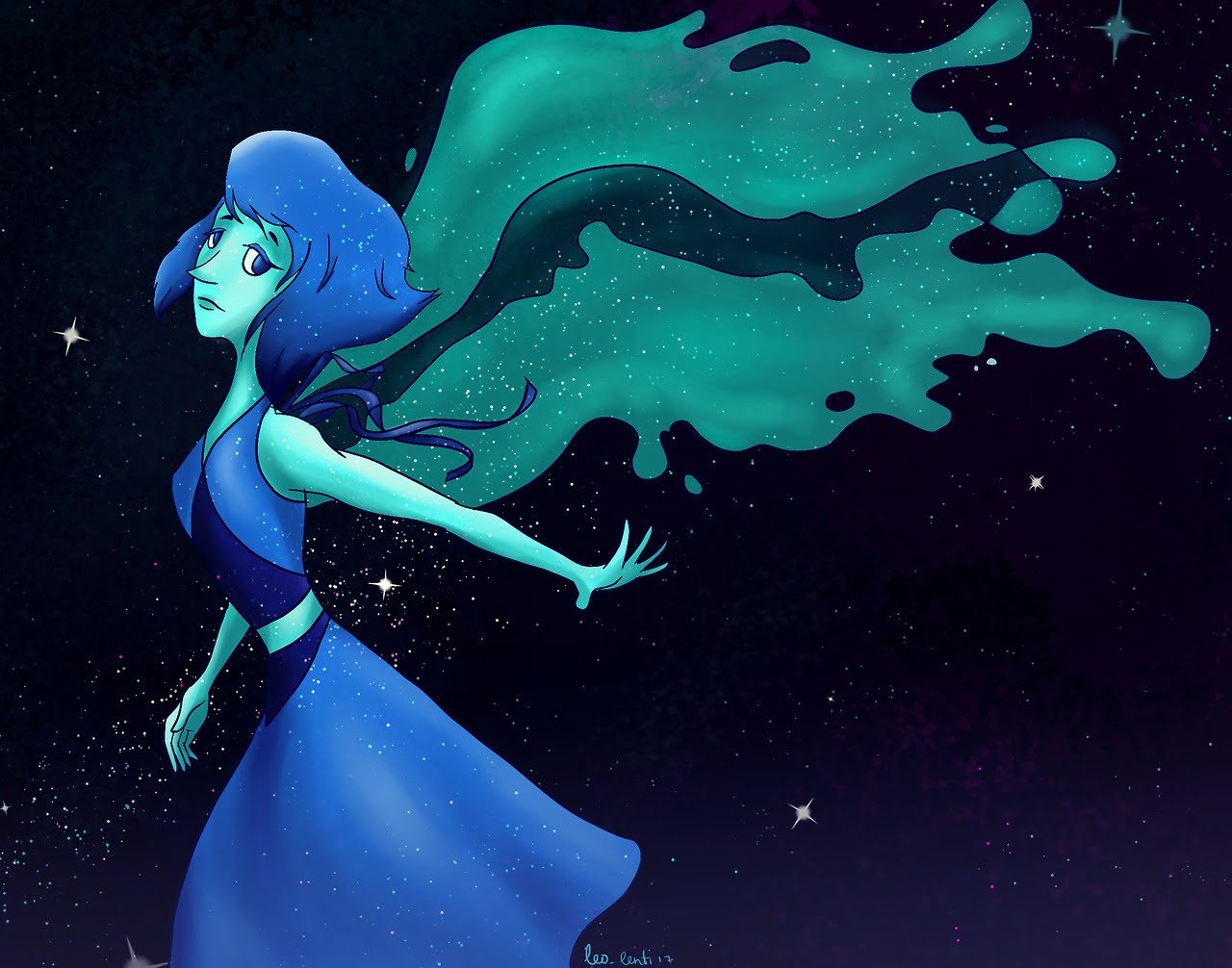 "I started watching ""Steven Universe"" lately, and man, it is great! So, here is a precious Lapis in space. (I admire the style of this show, it is so simple and beautiful at the same time.) I would..."