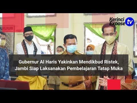 Gubernur Al Haris Yakinkan Mendikbud Ristek Nadiem Makarim, Jambi Siap Laksanakan PTM