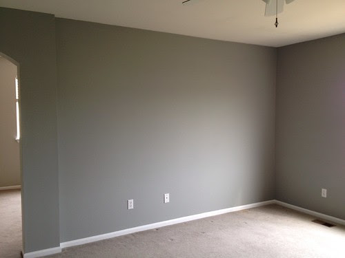 Master bedroom painted