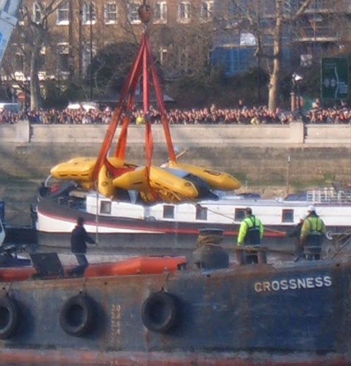 Whale being lifted at Battersea London