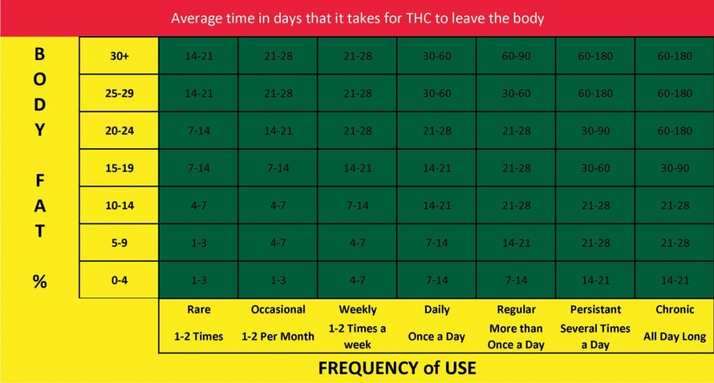 body fat percentage and water chart