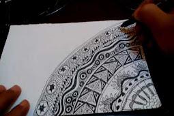 Zentangle Art Pertama Saya