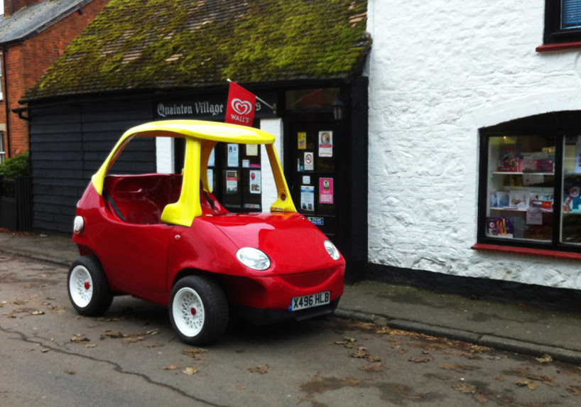 adult sized replica of little tikes car takes to the streets