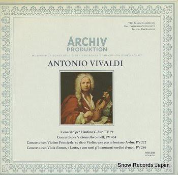 HOFMANN, WOLFGANG vivaldi; concerto per flautino pv79