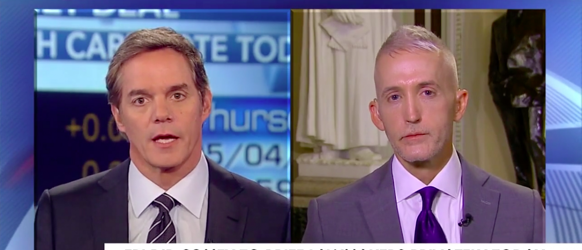 Screen Shot Trey Gowdy Joins Bill Hemmer on Fox News, May 4, 2017