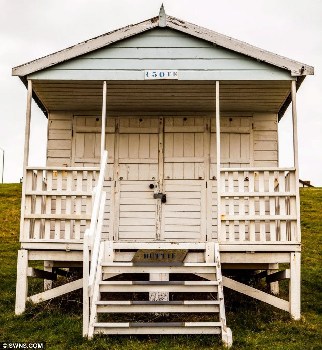 The lucky buyers will also bag themselves an original wooden beach hut