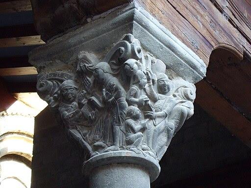 Jaca - Catedral - Portada Meridional - Capitel02
