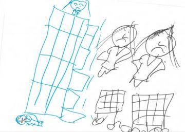 La niña de siete años que dibujó esta ilustración explica qué hay en ella: