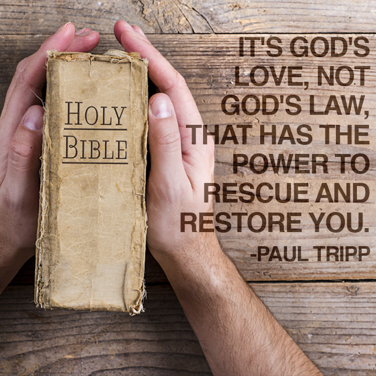 Its Gods Love Not Gods Law That Has The Power To Rescue And