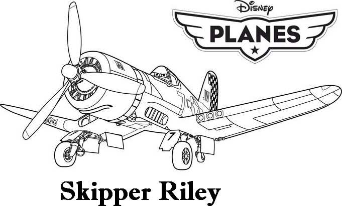 Coloriage A Imprimer Planes Skipper Rilley Gratuit Et Colorier
