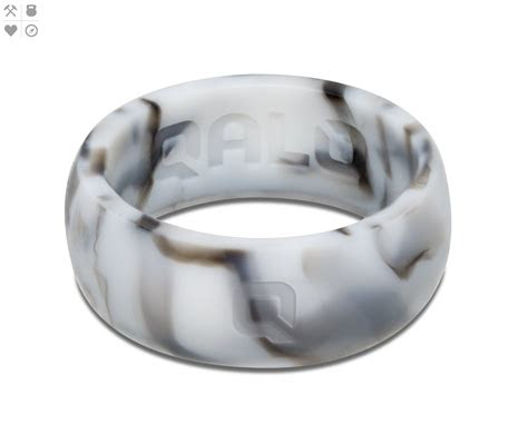 mens white marble silicone ring wedding silicone