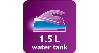 Rezervor de apă de 1,5 litri, pentru sesiuni de călcat îndelungate