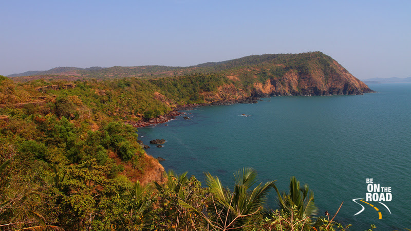 Picturesque Arabian Sea view from Cabo de Rama fort