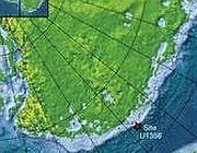 La localizzazione del carotaggio effettuato in Antartide davanti alla costa della Terra di Wilkes (da Nature)