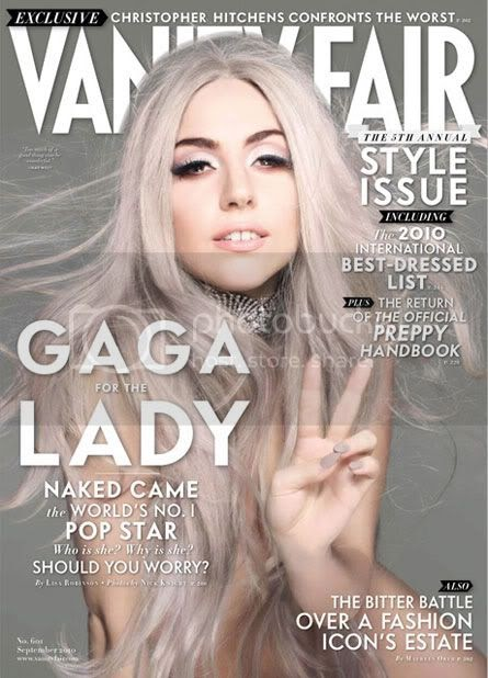 lady gaga in grigio su vanity fair