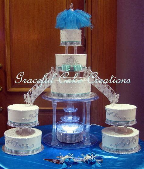 Elegant White Butter Cream Quinceanera Cake with Tiffany B