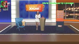 Maria Dominguez sensual no programa Vamos Jogar