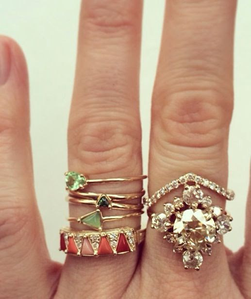 #jewelry stacked rings