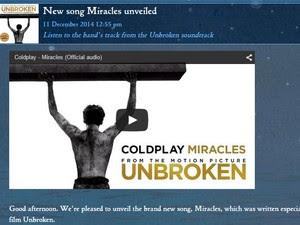 Postagem no site oficial anuncia nova música da banda (Foto: Reprodução)