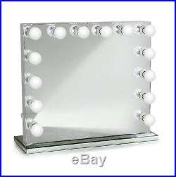 Hollywood 32 Lighted Vanity Mirror With14 Led Withdimmer Table Top
