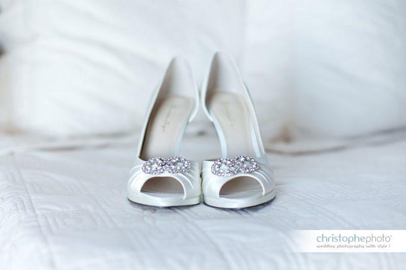 shoes at wedding in tahiti