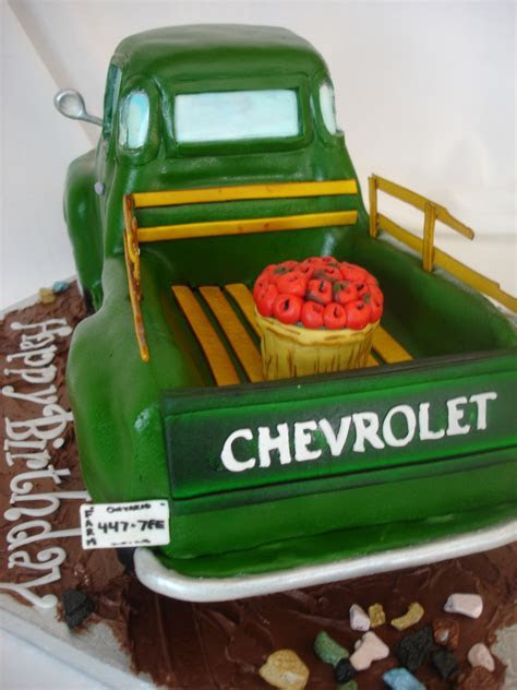 Old Chevy truck cake   Cakewalk Catering
