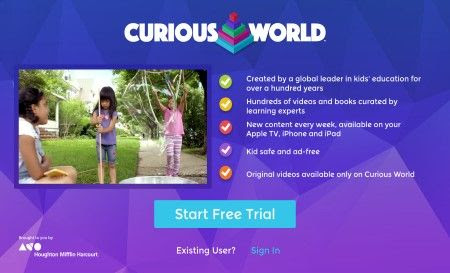 Curious World Launch on Apple TV