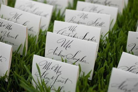 Ideas for Presenting Reception Seating Cards, Ways to
