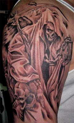 Rihanna Tattoos All Best Grim Reaper Tattoo Designs Photo In