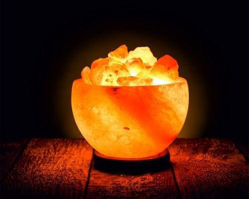 Himalayan Glow Natural Himalayan Salt Bowl Lamp, Crystal Salt
