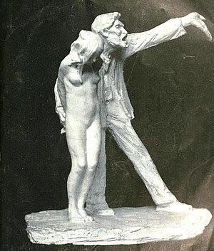 "Statue entitled ""The White Slave"""