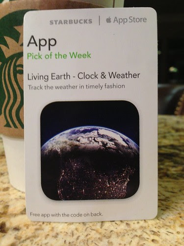 Starbucks iTunes Pick of the Week - 2/19/13 - Living Earth - Clock & Weather