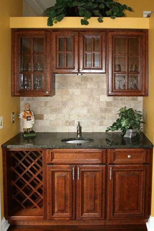 cherry cabinets kitchen backsplash   Dream Kitchens ...