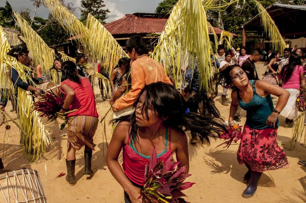 A las orillas del río Bobonaza, el pueblo Originario Kichwa de Sarayaku da inicio a la celebración de la Uyantza Raymi 2017, fiesta tradicional de la cacería.