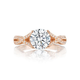 Diamond center Engagement Ring   DK Gems