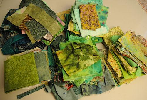 green fabric :: grønne stoffer