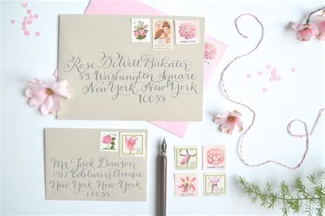 Pink Wedding Stamps Vintage Wedding Postage Stamp Pink
