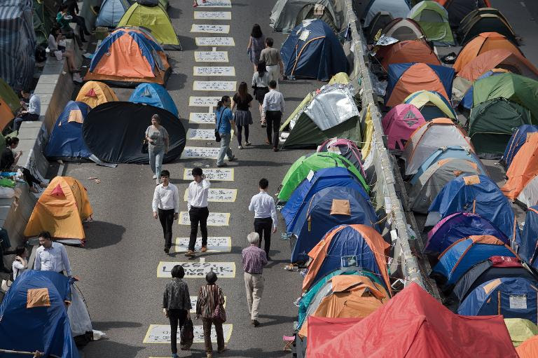 Hong Kong activists mull taking protest to Beijing