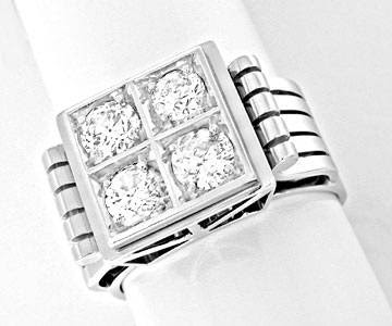 Foto 1, Brillant-Ring Traum-Handarbeit 18K Weissgold Luxus! Neu, S8460