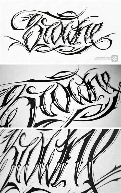 script tattoo font hand drawn