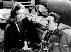 Bacall e Bogart en The big sleep