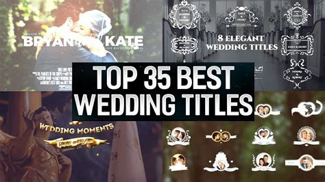 Top 35 Best Wedding Titles After Effects Templates   Top