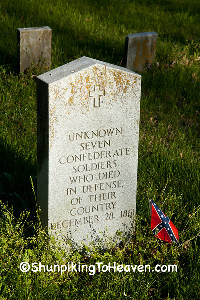 Gravestone for Seven Unknown Confederate Soldiers, Mt. Zion Church Cemetery, Boone County, Missouri