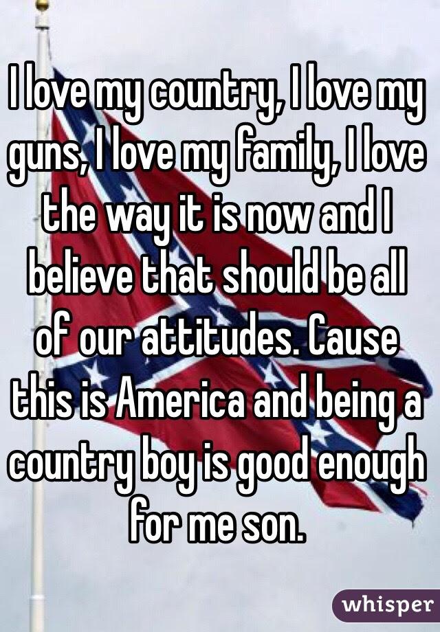 I Love My Country I Love My Guns I Love My Family I Love The Way