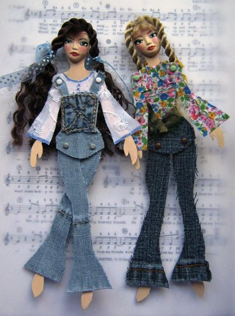 Denim Disco Divas - Paper Dolls