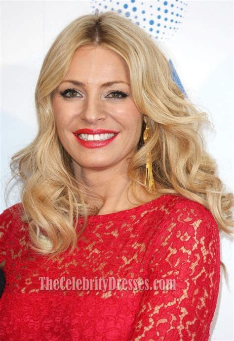 Tess Daly Red Lace Prom Dress 2013 National Television